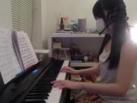 【預計05月3日00時下載地址生效】FC2牙刷妹 彈鋼琴日常 斑點暗紅過膝襪 -41